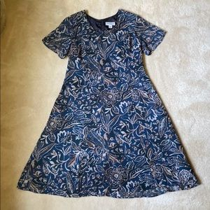 NorthStyle Midi Swing Dress in Blue Floral Print